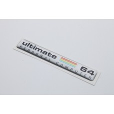 64c Ultimate 64 Badge - Silver