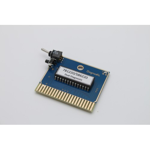 781220//586220 Commodore 64 Dual Diagnostic Cartridge w//reset ALL NEW PREMIUM