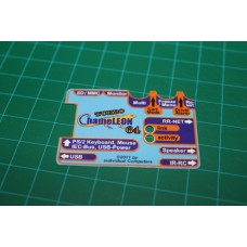 Turbo Chameleon 64 Cartridge Case Sticker